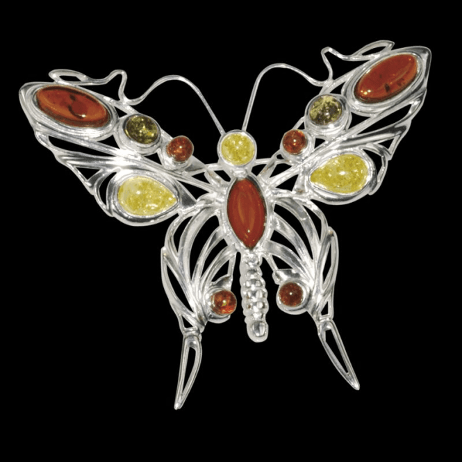 Shipton and Co Ladies Shipton and Co Silver and Amber Brooch TPT059AB
