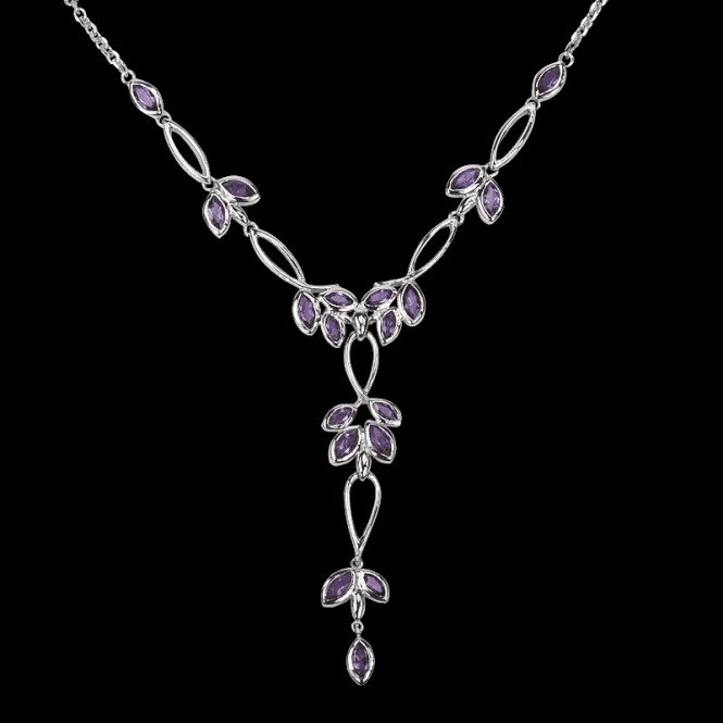 Shipton and Co Ladies Shipton and Co Exclusive Silver and Amethyst Necklace NQA200AM