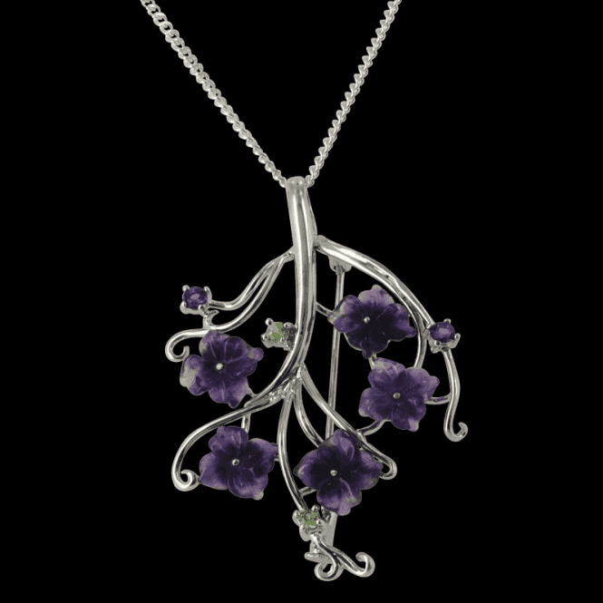 Ladies Shipton and Co Exclusive Silver and Amethyst Pendant including a TTL197AM
