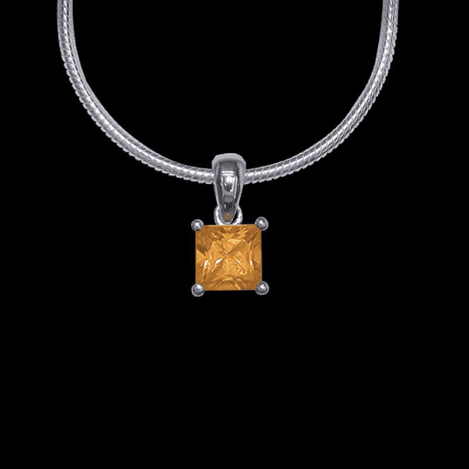 Shipton and Co Ladies Shipton and Co Silver and Citrine Pendant including a 16 Silver Flexisnake Chain PQA067CI