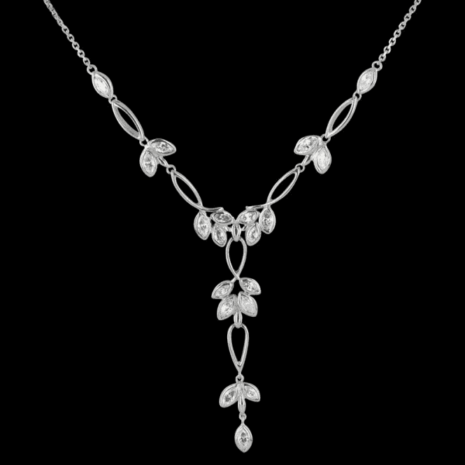 Shipton and Co Ladies Shipton and Co Exclusive Silver and Cubic Zirconia Necklace NQA200CZ1
