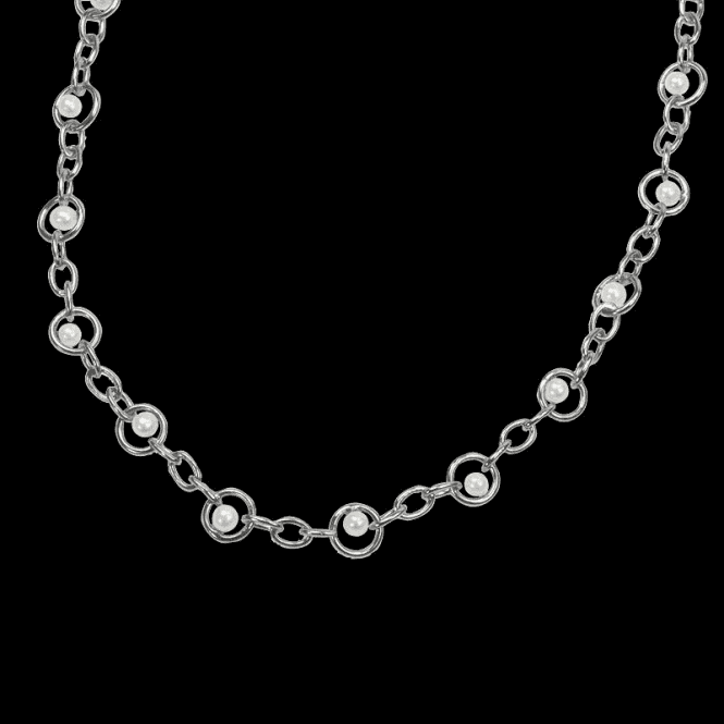 Shipton and Co Ladies Shipton and Co Exclusive Silver and Freshwater Pearls Necklace NQA153FP1