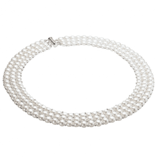 Ladies Shipton and Co Exclusive Silver and Freshwater Pearls Necklace TEN009FP