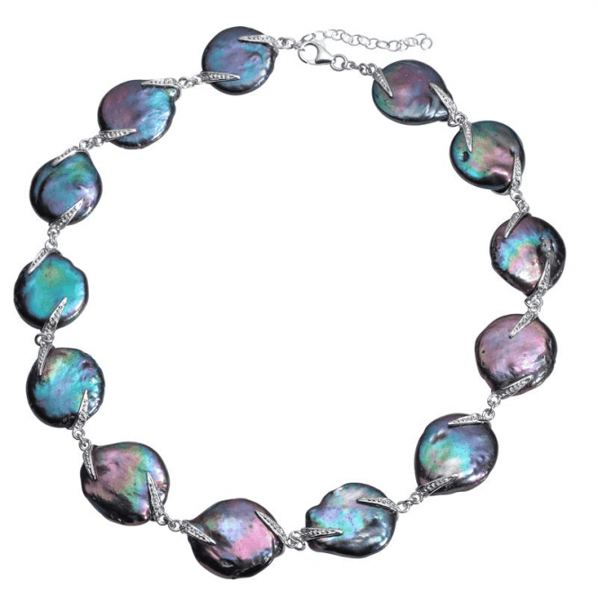 Shipton and Co Ladies Shipton and Co Exclusive Silver and Freshwater Pearls Necklace TKT001PM