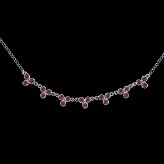 Shipton and Co Ladies Shipton and Co Exclusive Silver and Garnet Necklace NQA061GR