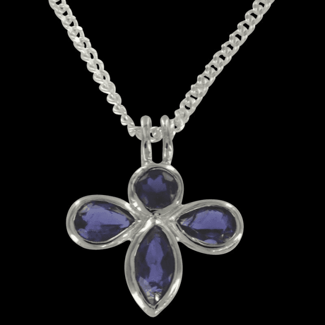 Ladies Shipton and Co Exclusive Silver and Iolite Pendant including a 16 Silver Chain PQA012IO