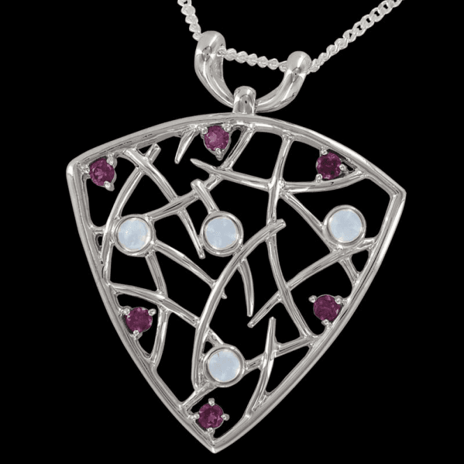 Shipton and Co Ladies Shipton and Co Exclusive Silver and Moonstone Pendant including a 16 Silver Chain PQA279MSRH