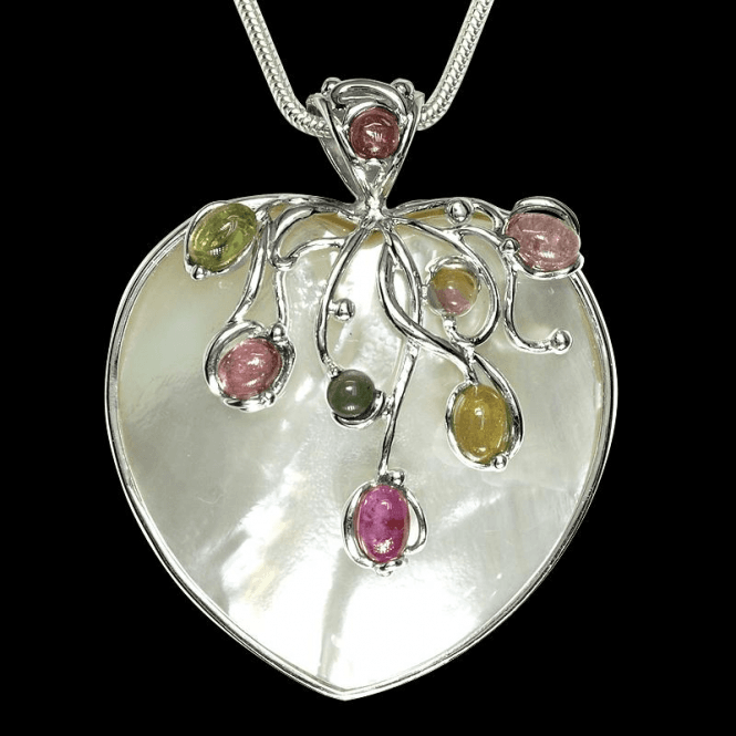 Ladies Shipton and Co Exclusive Silver and Multiple Stone Pendant including a 16 Silver Flexisnake Chain TTL074MU