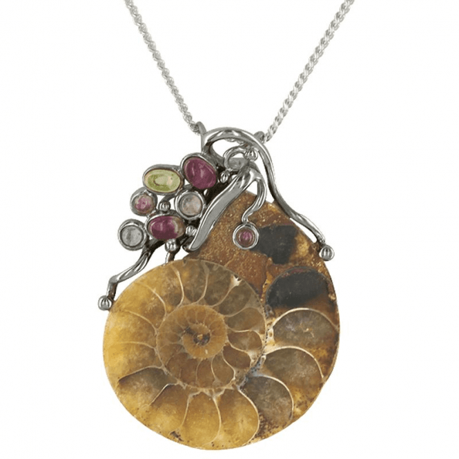 Shipton and Co Ladies Shipton and Co Exclusive Silver and Real Fossil Pendant including a 16 Silver Chain TTL103MU