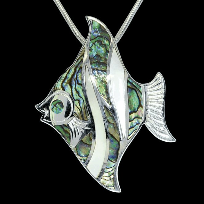 Sil Angel Fish Paua/Wht Mop Pt