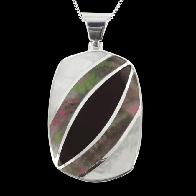 """Shipton and Co Ladies Shipton and Co Exclusive Silver Antler Mother of Pearl Pendant including a 16"""" Silver Chain  TKW455PMON"""