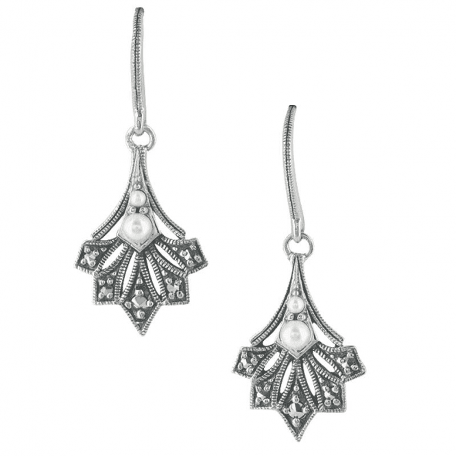 Art Deco Inspired Leaf Earrings