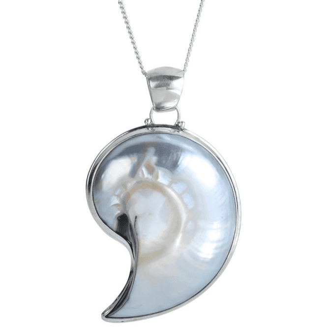 Ladies Shipton and Co Exclusive Silver and Blister & Nautilus Pearls Pendant including a TXA002BP