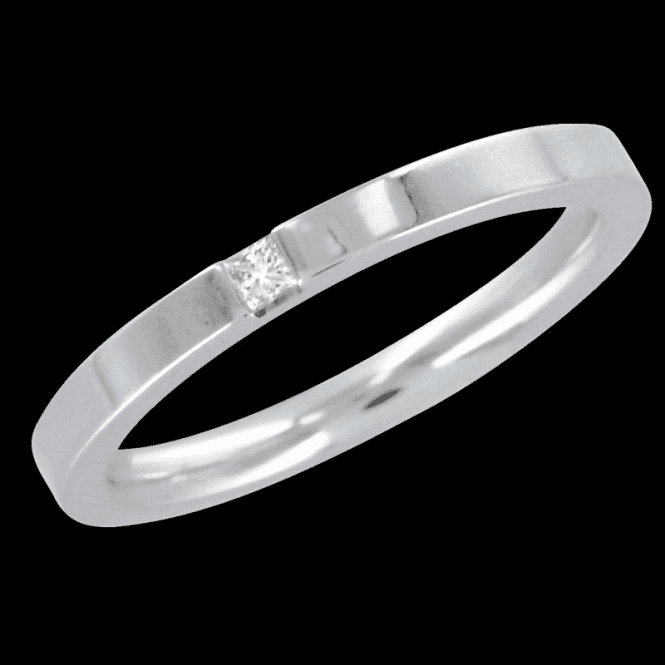 Shipton and Co Ladies Shipton and Co  18ct White Gold and 3pt Diamond Wedding  Ring TST036DI