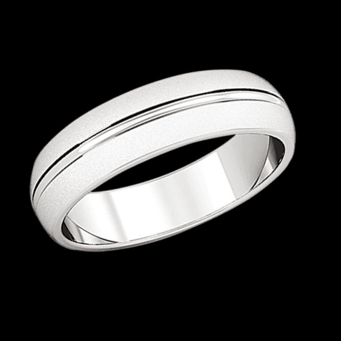 Ladies Shipton and Co 9ct White Gold Ring 5mm D wedding Ring TST011NS