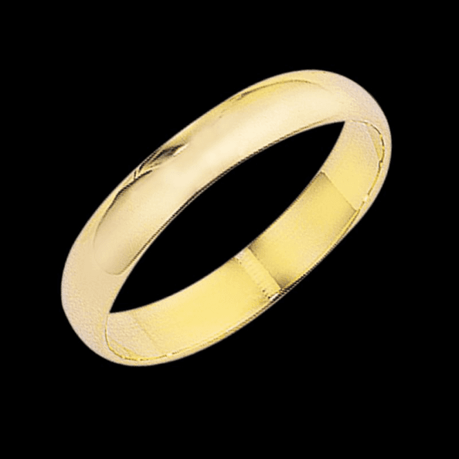 Ladies Shipton and Co 9ct Yellow Gold 4mm D Wedding Ring TST003NS