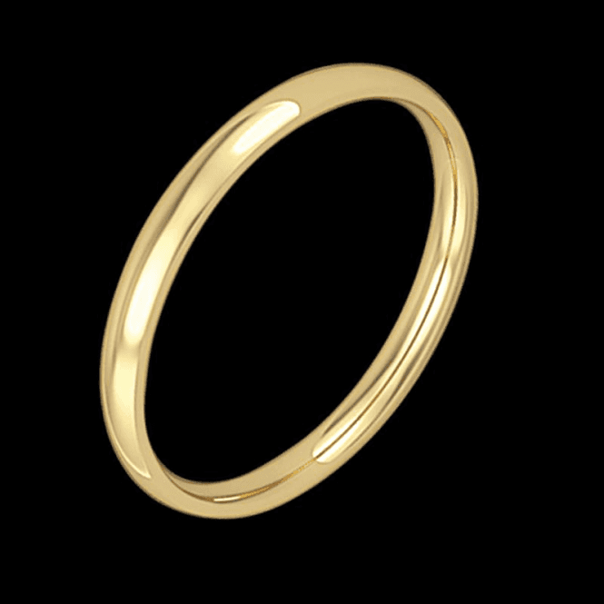 18ct 2mm Court Wedd Band