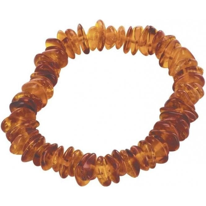 Cognac Stretchy Amber Bracelet