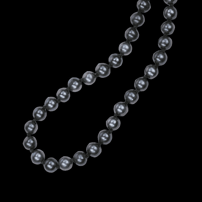 Shipton and Co Ladies Shipton and Co  Silver 7 to 8mm Black Round Freshwater Pearls  Beads BOJ084FP