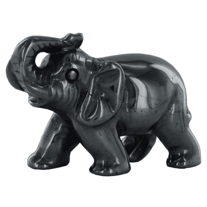 HEMATITE ELEPHANT CARVING