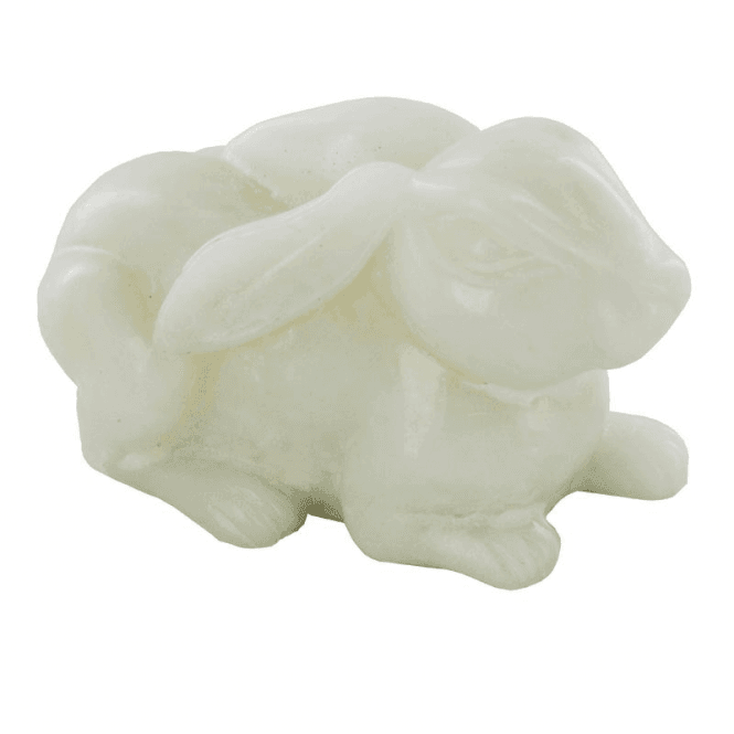 Ladies Shipton and Co 65x30mm White Quartz Rabbit Carving CPA006WQ