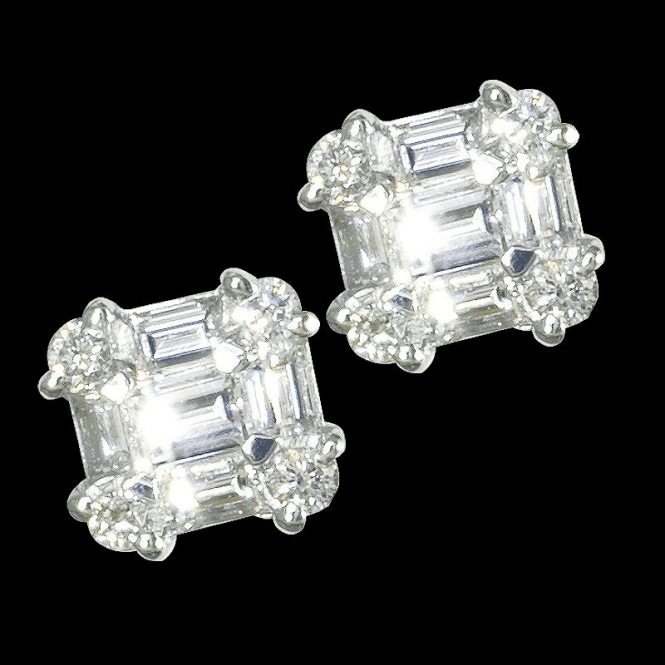 Castle Diamond Earrings