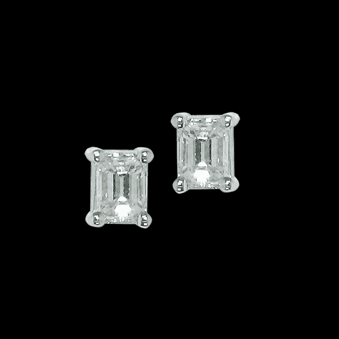 Imperial Diamond Baguette Cut Earrings