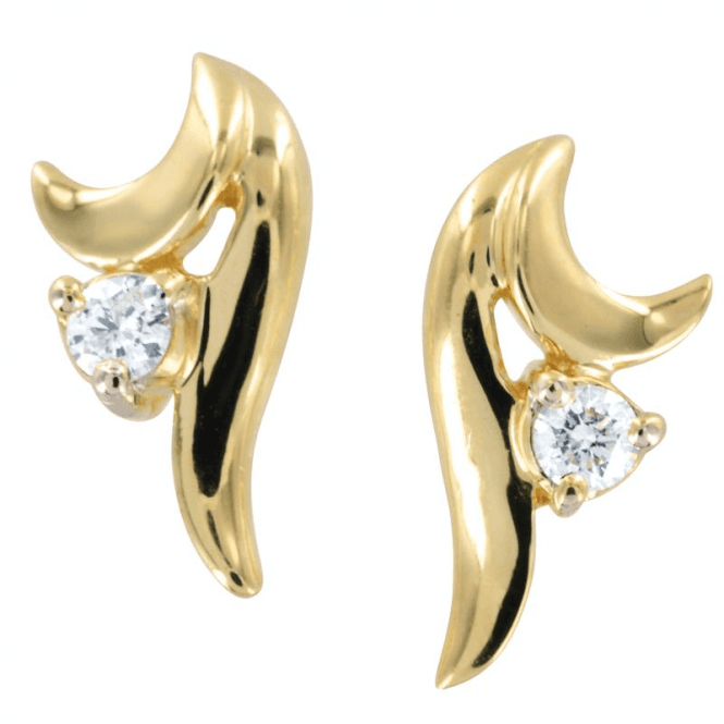 Shipton and Co Ladies Shipton and Co Exclusive 9ct Yellow Gold The Vienna Suite Diamond  Earrings EYD095DI
