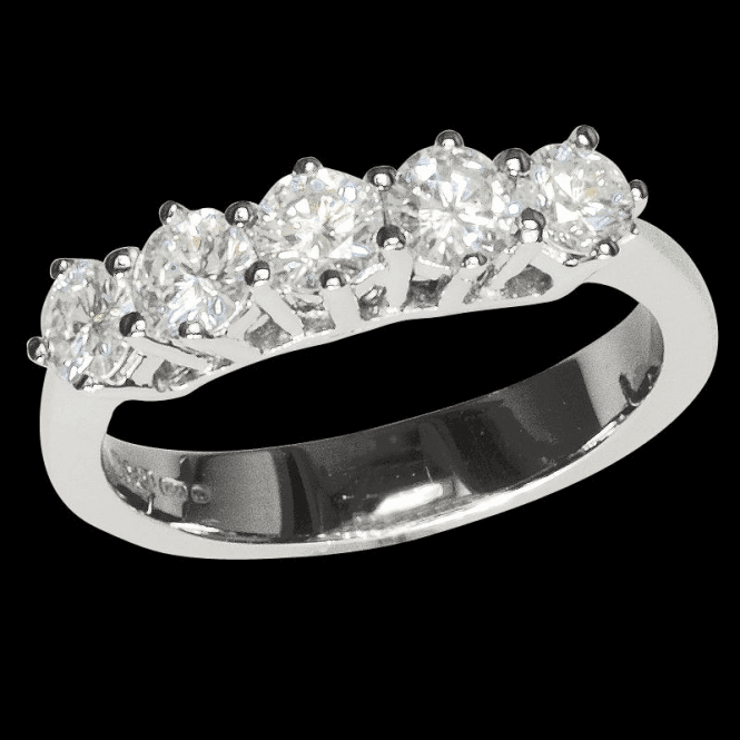 Shipton and Co Ladies Shipton and Co  18ct White Gold % Stone 1ct Half Eternity Diamond  Ring TAR291DI