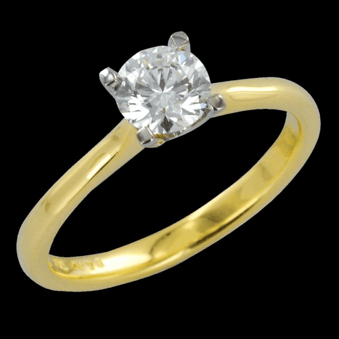 Shipton and Co Ladies Shipton and Co Exclusive 18ct Yellow Gold 75pts 4 Claw Set Diamond H/Si2 Ring S08614DI