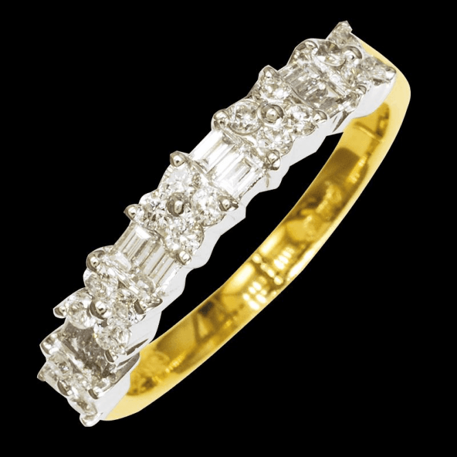 Shipton and Co Ladies Shipton and Co  18ct Yellow Gold Over Half a Carat of Baguette & Brilliant Cut Diamond Ring TFL489DI