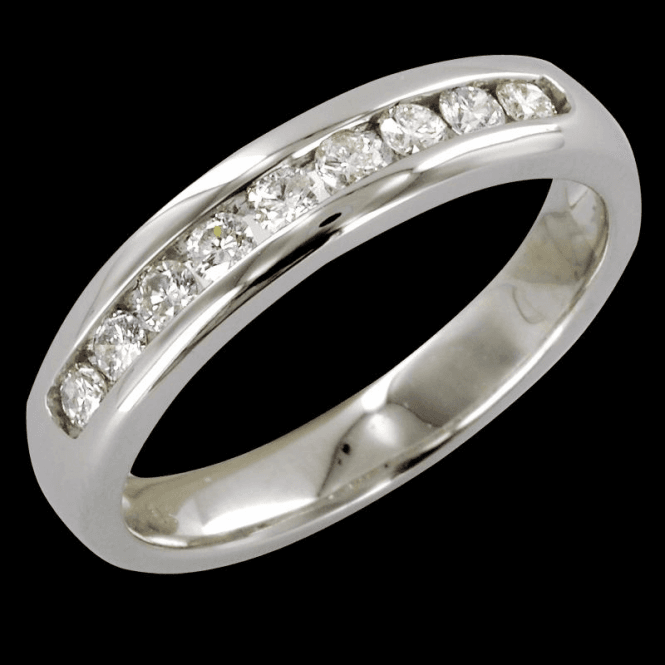 The Hamptons Half Eternity Ring In White Gold & Diamond