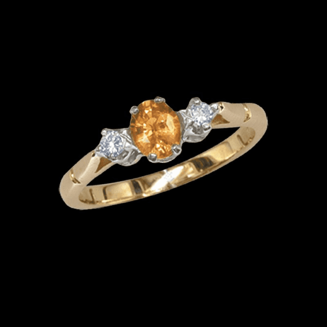 Shipton and Co Ladies Shipton and Co Exclusive 9ct Yellow Gold Diamond and Yellow Sapphire Ring RYX071YS