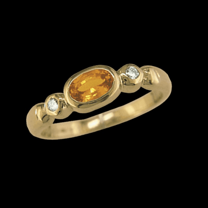 Shipton and Co Ladies Shipton and Co Exclusive 9ct Yellow Gold Diamond and Yellow Sapphire Ring RYX080YS