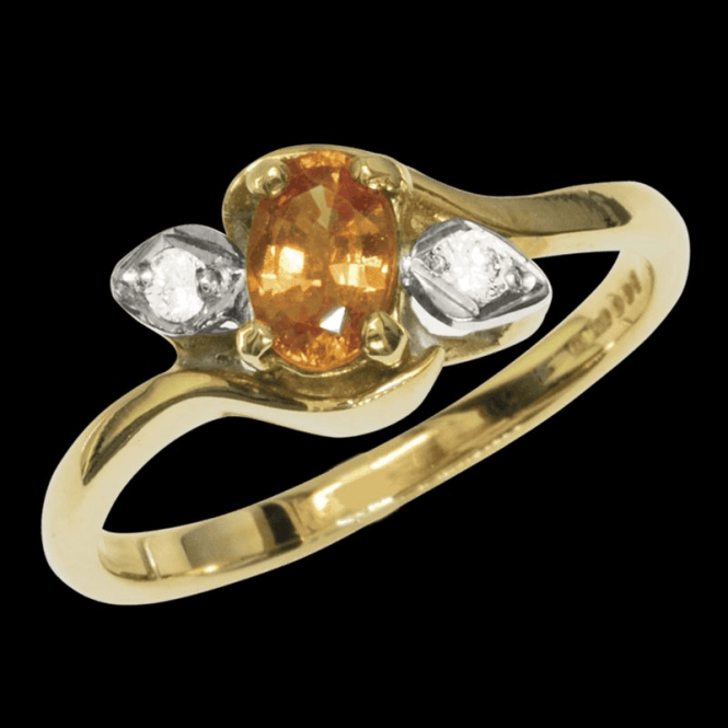 Shipton and Co Ladies Shipton and Co Exclusive 9ct Yellow Gold Diamond and Yellow Sapphire Ring RYX087YS