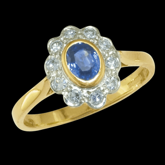 Shipton and Co Ladies Shipton and Co Exclusive 18ct Yellow Gold and Ceylon Sapphire  Ring RZ1867CS