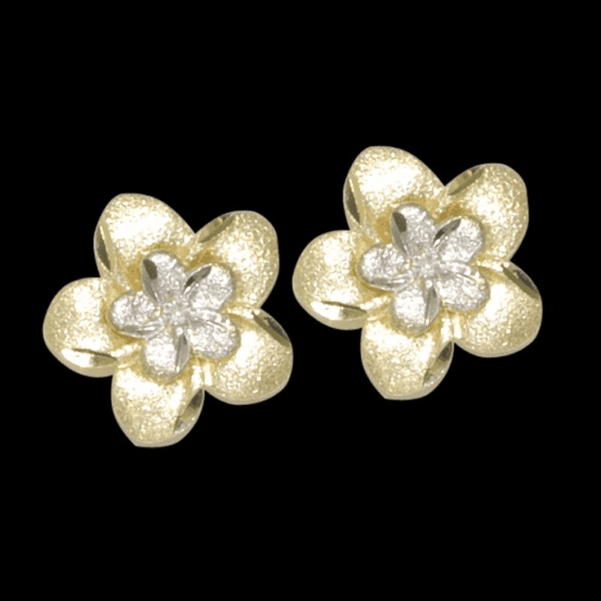 Frosted Flower Earrings