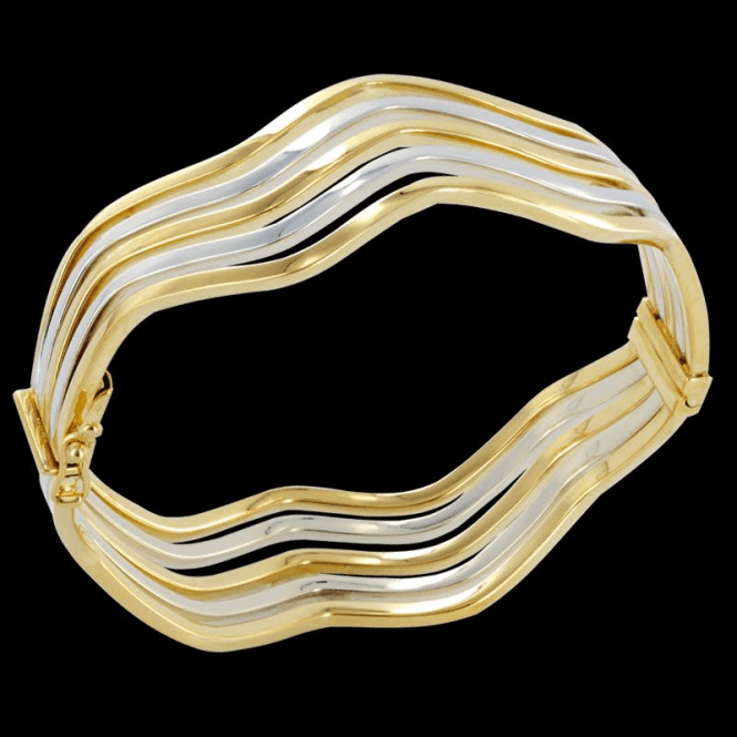 Duo Tone Wave Bangle