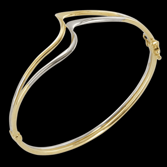 Shipton and Co Ladies Shipton and Co 9ct Yellow Gold Bangle TAR387NS