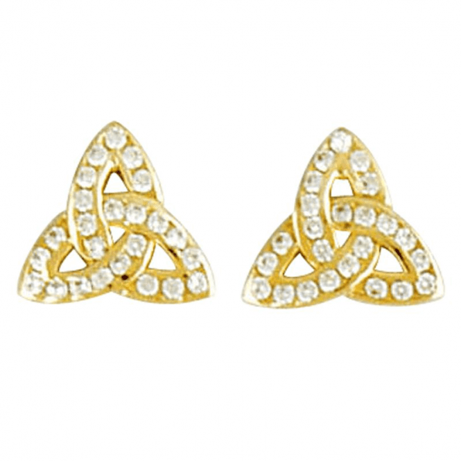Shipton and Co Ladies Shipton and Co Exclusive 9ct Yellow Gold and Cubic Zirconia Earrings TAR446CZ
