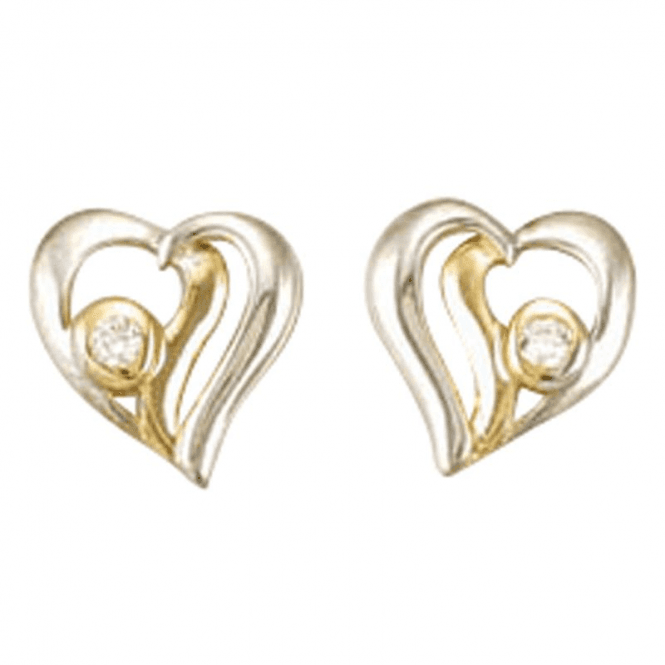 Exclusive Sparkling Heart Earrings