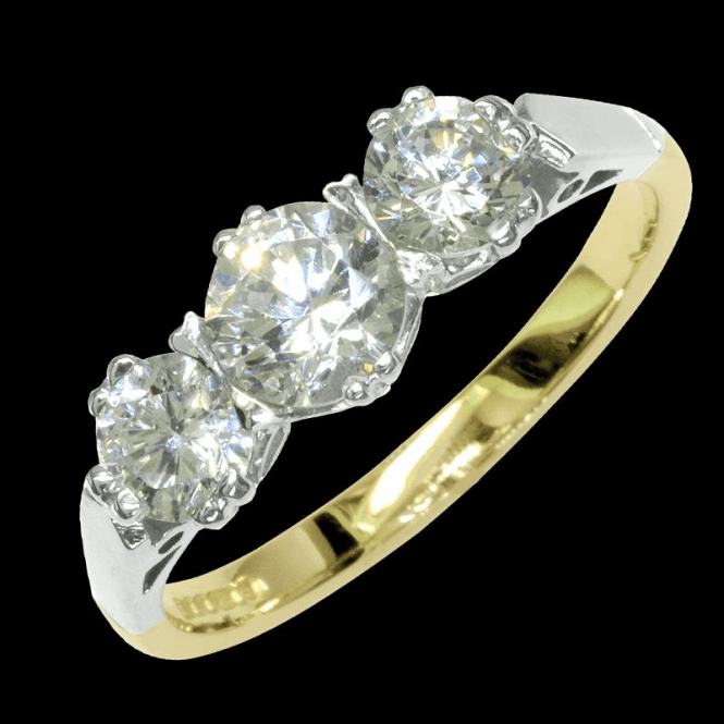 Ladies Shipton and Co Exclusive 9ct Yellow Gold and Cubic Zirconia Ring RY0001CZ