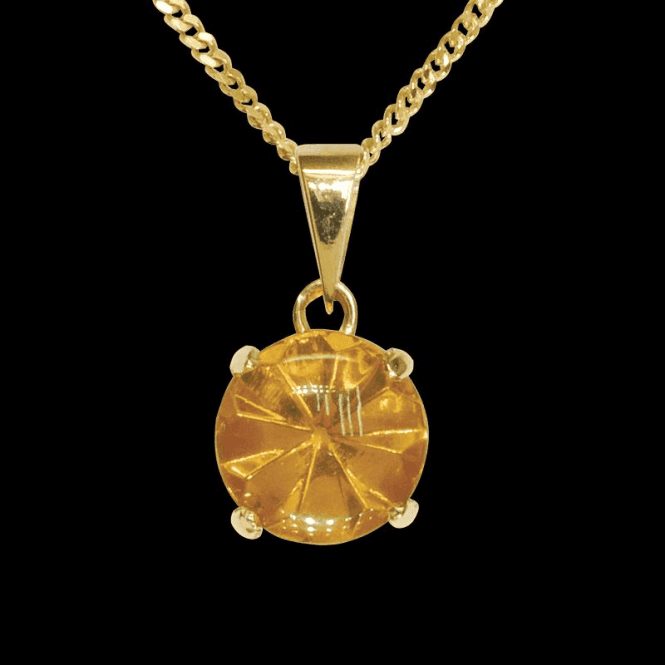 "Shipton and Co Ladies Shipton and Co  9ct Yellow Gold and Amber  Pendant including a 20"" 9ct Yellow Gold Chain PY2265AB1"