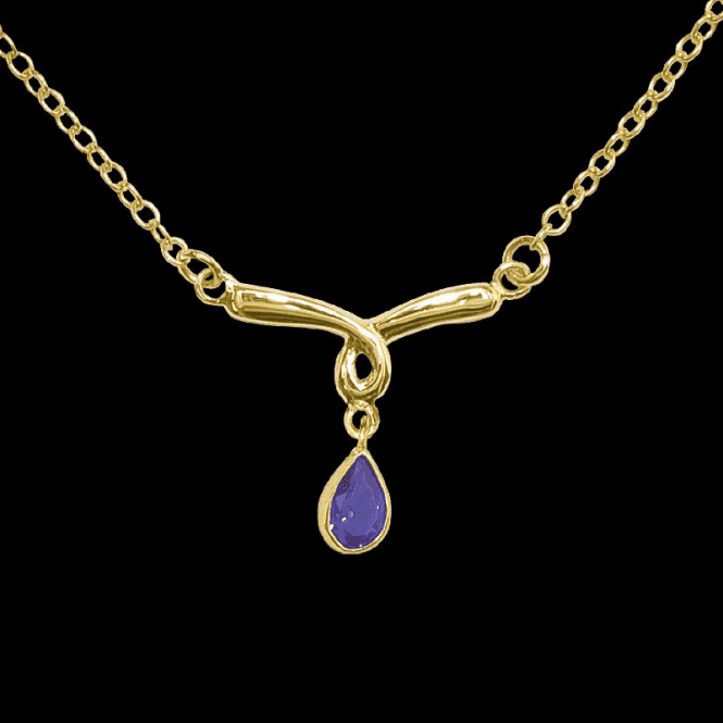 Shipton and Co Ladies Shipton and Co Exclusive 9ct Yellow Gold and Amethyst Necklace NY1762AM