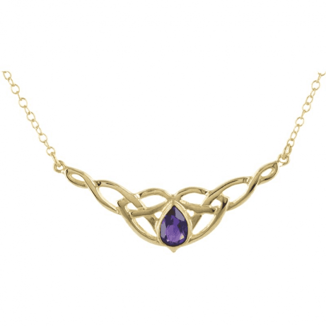 Shipton and Co Ladies Shipton and Co Exclusive 9ct Yellow Gold and Amethyst  Necklace NY1877AM