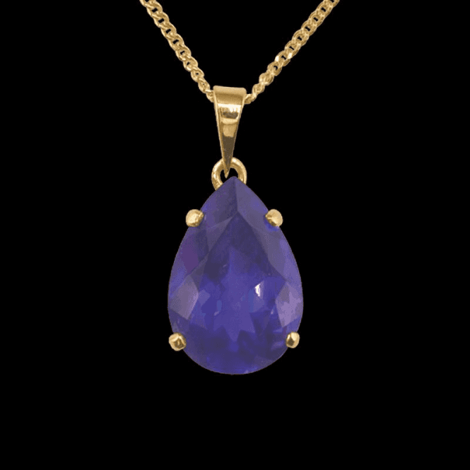 "Shipton and Co Ladies Shipton and Co  9ct Yellow Gold and Amethyst  Pendant including a 16"" 9ct Chain  PY1980AM"