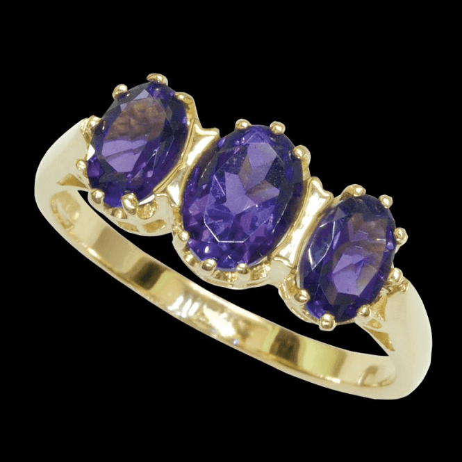 Ladies Shipton and Co Exclusive 9ct Yellow Gold and Amethyst Ring RY1127AM