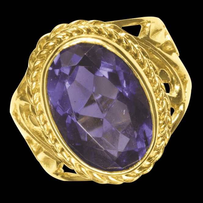 Shipton and Co Ladies Shipton and Co Exclusive 9ct Yellow Gold and Amethyst  Ring RY1193AM