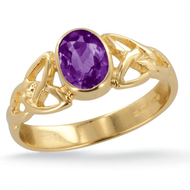 Ladies Shipton and Co Exclusive 9ct Yellow Gold and Amethyst Ring RY1769AM