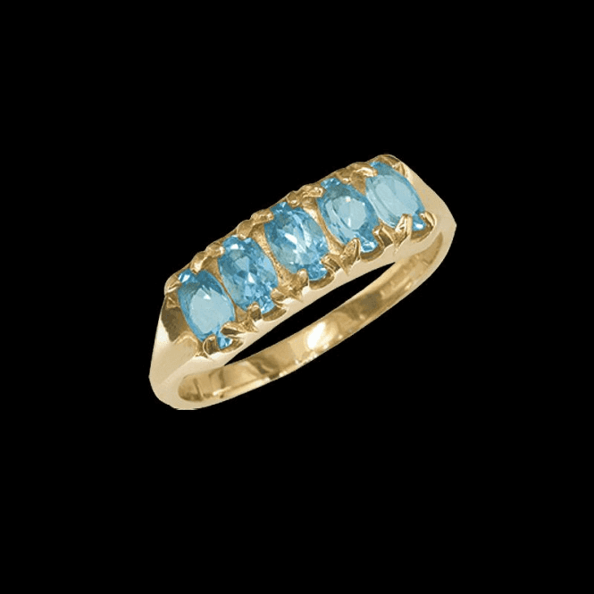 The Companion Ring Exclusively from Shipton & Co. These Superior Aquamarines are set in a Weighty Gold Mount